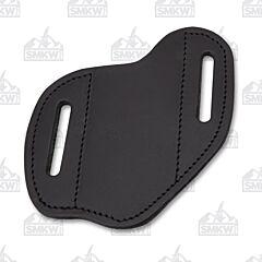 AA&E Leathercraft Folding Knife Large Black Leather Gentleman's Sheath