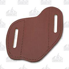 AA&E Leathercraft Folding Knife Large Brown Leather Gentleman's Sheath