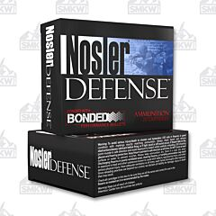 Nosler Defense 9MM +P 124 Grain Jacketed Hollow Point 20 Rounds