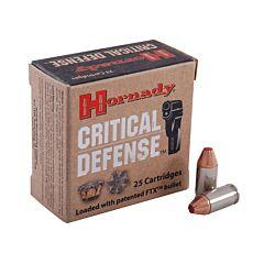 Hornady Critical Defense 380 ACP 90 Grain Flex Tip Expanding 25 Rounds