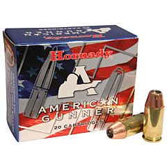 Hornady American Gunner 45 ACP 185 Grain XTP Jacketed Hollow Point 20 Rounds
