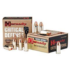 Hornady Critical Defense 9x18 mm 95 Grain Flex Tip Expanding 25 Rounds