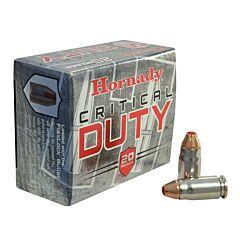 Hornady Critical Duty 357 Sig 135 Grain Flex Lock Flat Base 20 Rounds