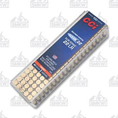 CCI Clean 22 Long Rifle Subsonic 40 Grain Blue Polymer Coated Lead Round Nose 100 Rounds