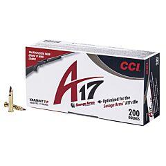 CCI A17 17 Hornady Magnum Rimfire 17 Grain Varmint Tip 200 Rounds