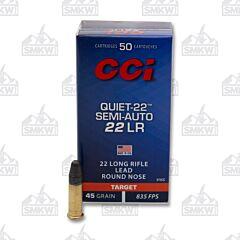 CCI Quiet Semi-Auto Ammunition 22 Long Rifle 45 Grain Lead Round Nose