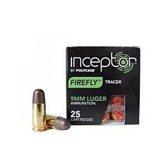Polycase Inceptor Firefly Tracer 9mm Luger 81 Grain Round Nose 25 Rounds