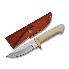 Whitetail Skinner Stainless Steel Blade Bone Handle