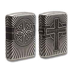 Zippo Celtic Antique Silver Lighter