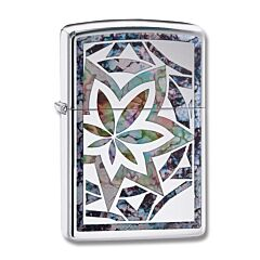 Zippo High Polish Chrome Fusion Cannabis Ligher