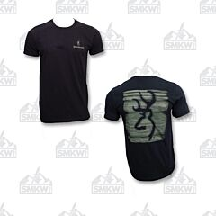 Browning Men's Smudge Buckmark T-Shirt Black