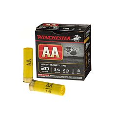"Winchester AA Heavy Target 20 Gauge 2-3/4"" 1 oz #8 Shot 25 Rounds"