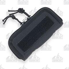 "7"" Black Cordura Zipper Pouch"