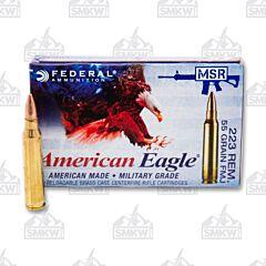 Federal Ammunition American Eagle 223 Remington 55 Grain FMJ 20 Rounds