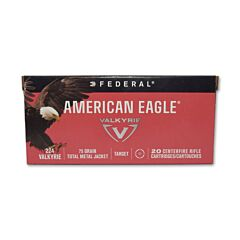 Federal American Eagle 224 Valkyrie 75 Grain Total Metal Jacket 20 Rounds