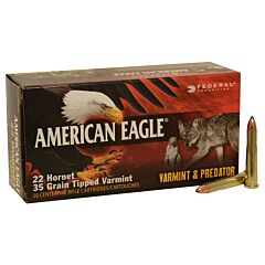Federal American Eagle .22 Hornet 35 Grains Center Fire 50 Rounds