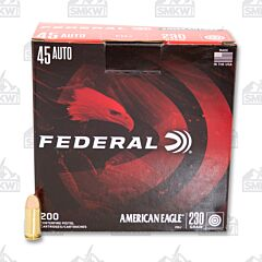Federal American Eagle Ammo 45 Auto 230 Grain Full Metal Jacket 200 Rounds