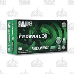 Federal American Eagle IRT 9mm  70 Grain FMJ 50 Rounds