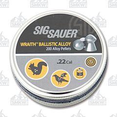 Sig Sauer Wraith Ballistic Allow .22 Caliber Pellets