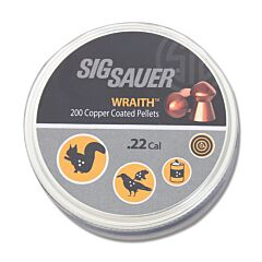 Sig Sauer Wraith Precision Aero Copper Coated Pellets .22 Cal Model AIR-AMMO-WRAITH-LD-22-200