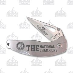 Frost Cutlery Alabama Champs 2020 Stainless Wharncliffe