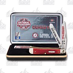 Case Knives Alabama Champs 2020 Red Pickbone Trapper