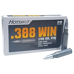 Century Arms HotShot 308 Winchester 150 Grain Full Metal Jacket 500 Rounds