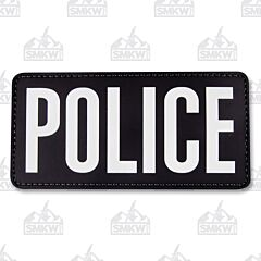 "5ive Star Gear Morale Patch Police 6""x3"" Black White"