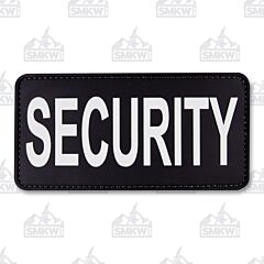 "5ive Star Gear Morale Patch Security 6""x3"" Black White"