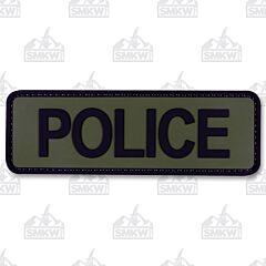 "5ive Star Gear Morale Patch Police 6""x2"" OD Black"