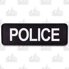 "5ive Star Gear Morale Patch Police 6""x2"" Black White"