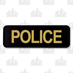 """5ive Star Gear Morale Patch Police 6""""x2"""" Black Gold"""