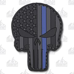 5ive Star Gear Morale Patch Blue Stripe Skull