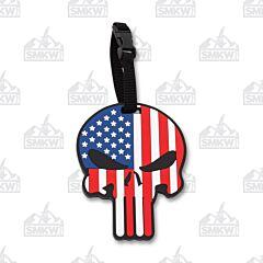 5ive Star Gear Patriotic Skull Luggage Tag