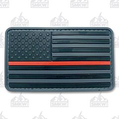 5ive Star Gear Morale Patch Black Flag Thin Red Line