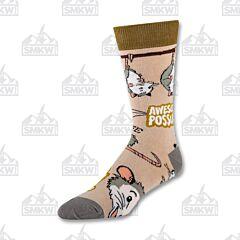 Oooh Yeah! Anything is Possumble Men's Crew Socks