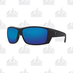 Costa Cat Cay Matte Black Plastic Frame Sunglasses