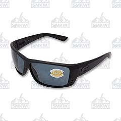Costa Cat Cay Blackout Sunglasses Black Plastic Frames Blue Mirror Polarized Glass Lenses