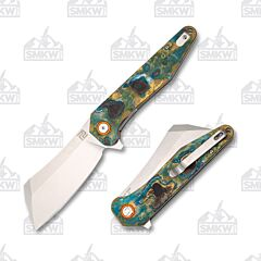 Artisan Cutlery Osprey Patina Brass Handle