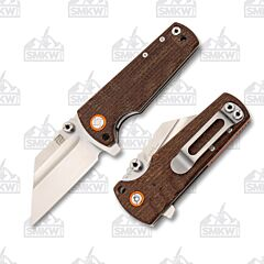 Artisan Cutlery Mini Proponent Brown Burlap Micarta SMKW Exclusive