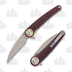 Artisan Cutlery SMKW Exclusive Burgundy Cazador