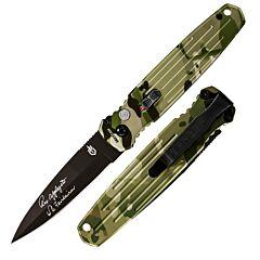 Gerber Applegate Fairbairn Covert Automatic Camo Aluminum Handles Black Blade