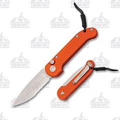 Microtech LUDT Orange Partially Serrated