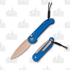 Microtech L.U.D.T. Blue Bronzed Standard