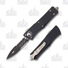 Microtech Troodon D/E Black Partially Serrated