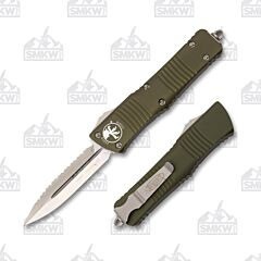 Microtech Combat Troodon D/E OD Green Satin Full Serrated