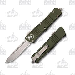 Microtech Combat Troodon T/E OD Green Stonewash Partially Serrated