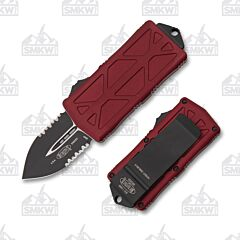 Microtech Exocet Merlot Partially Serrated