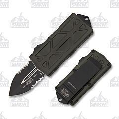 Microtech Exocet D/E OD Green Partially Serrated