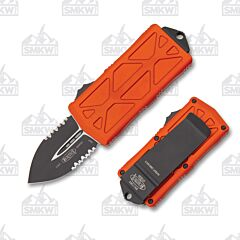 Microtech Exocet Orange Partially Serrated